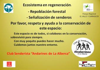 Cartel tu huella cuenta Andarines de La Alberca